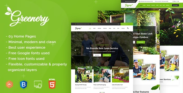 Greenry - Gardening, Lawn & Landscaping HTML Template - Environmental Nonprofit