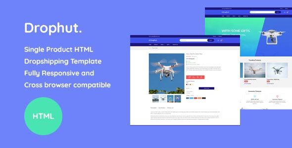 Drophut - Single Product Drop Shipping Template - Corporate Site Templates