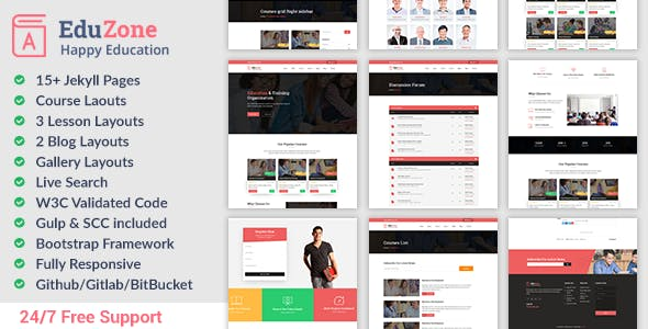 Download Eduzone - Responsive Education Website Jekyll Theme