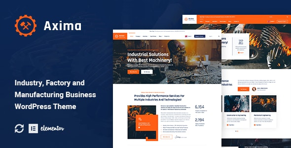 Axima - Factory and Industry WordPress Theme - Business Corporate