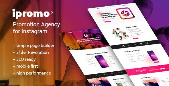 iPromo – Instagram Agency WordPress Theme - Business Corporate
