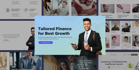 Quaid - Financial and Accounting HTML Templates - Corporate Site Templates