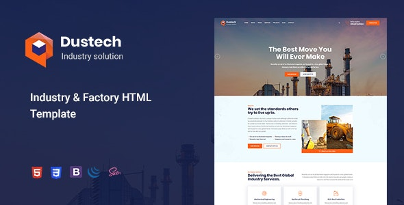 Dustech - Industry & Factory HTML Template - Business Corporate