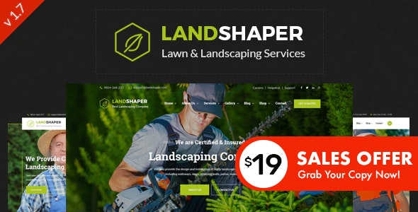 The Landshaper - Gardening & Landscaping WordPress Theme by ThemeKalia