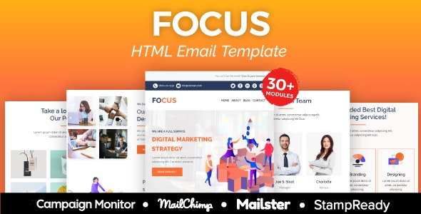Focus - Multipurpose Responsive Email Template - Newsletters Email Templates