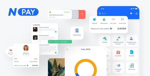 NPAY - Wallet Mobile App - Creative Sketch