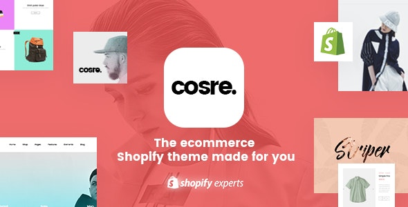 Cosre - Clean, Minimal Responsive Shopify Theme - Shopify eCommerce