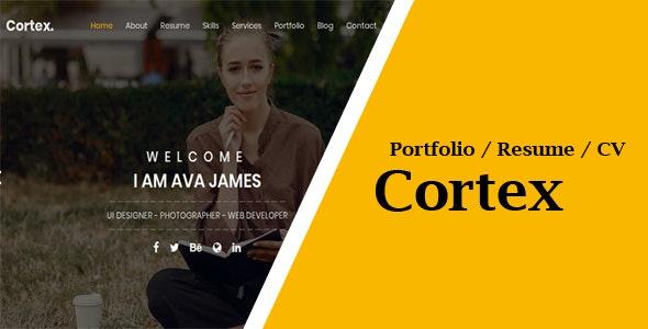 Cortex Portfoltio / CV / Resume Template - Resume / CV Specialty Pages