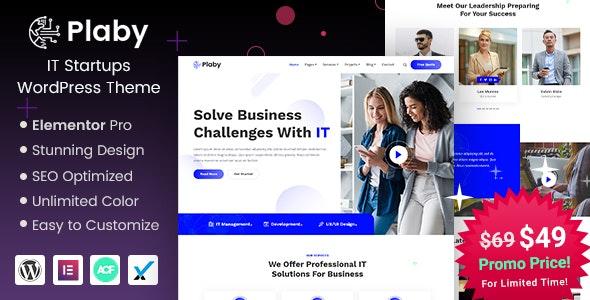 Plaby - IT Startup WordPress Theme - Technology WordPress