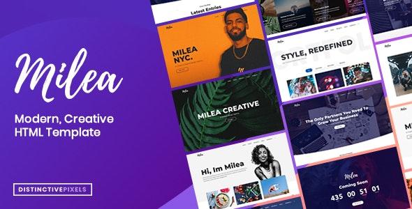 Milea - Flexible Creative Template for Business, Personal or Portfolio - Creative Site Templates