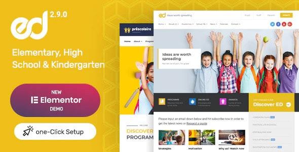 Ed School: Education WordPress Theme - Education WordPress