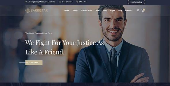 Barristar – Law, Lawyer and Attorney WordPress Theme