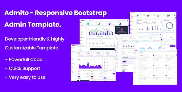 Admito - Responsive Admin & Dashboard Template by Theme-zome