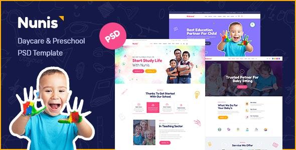 Nunis - Modern Kids PSD Template - Children Retail