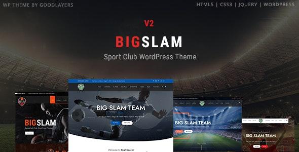BigSlam Sport Clubs - Soccer WordPress - Nonprofit WordPress