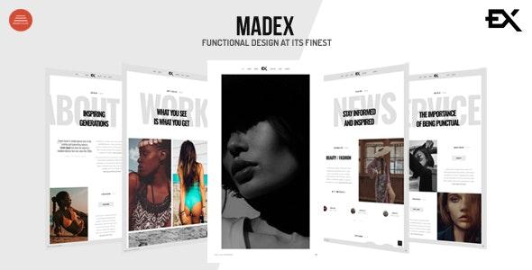 Madex - Creative Photography Portfolio Template - Portfolio Creative