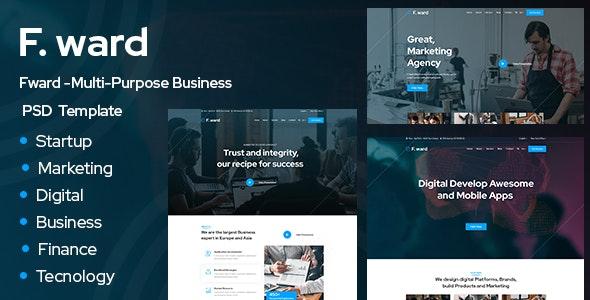 Fward -Multi-Purpose Business PSD Template - Business Corporate