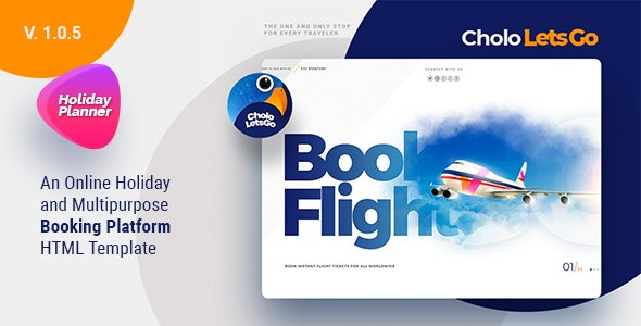 Cholo | A Online Holiday And Multipurpose Booking Platform HTML Template - Travel Retail