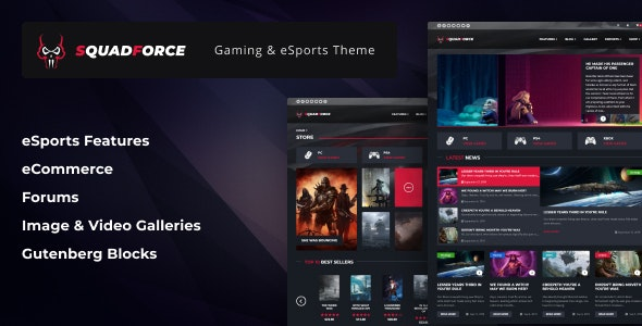 SquadForce - eSports Gaming WordPress Theme (formerly Good Games) - Entertainment WordPress