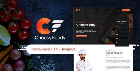 ChoosyFoody - Restaurant HTML Template - Restaurants & Cafes Entertainment