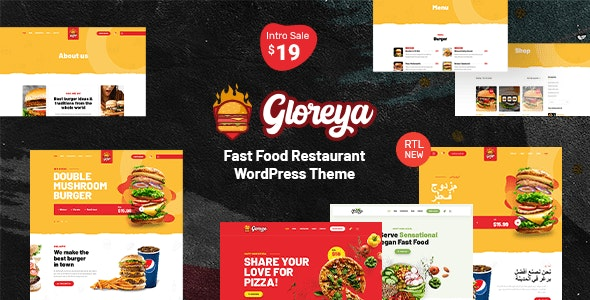 Gloreya - Fast Food WordPress Theme - Food Retail