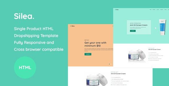 Silea - Onepage Product Landing HTML Template - Health & Beauty Retail
