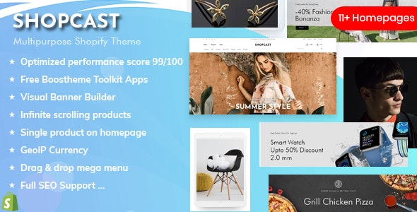 Shopcast - High Performance Multipurpose Shopify Sections Theme - Shopping Shopify