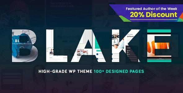 Blake   High-Grade MultiPurpose WordPress Theme - Corporate WordPress