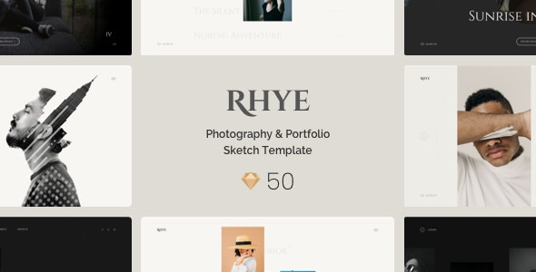 Rhye – Photography & Portfolio Sketch Template - Portfolio Creative