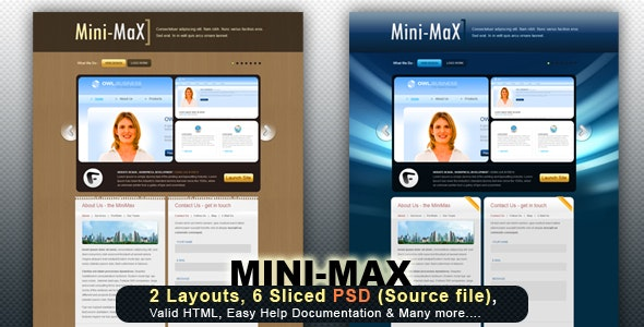 MiniMax - All in one - 2 layouts - Virtual Business Card Personal