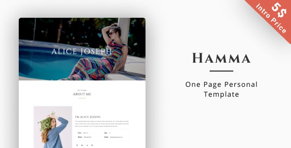 Hamma – Personal Portfolio - Portfolio Creative