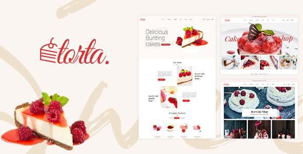 Torta - Multipurpose Bakery PSD Template - Food Retail
