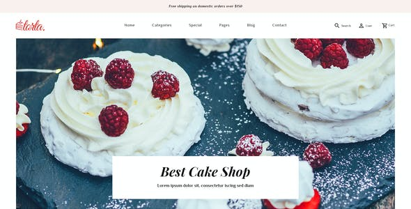 Torta - Multipurpose Bakery PSD Template