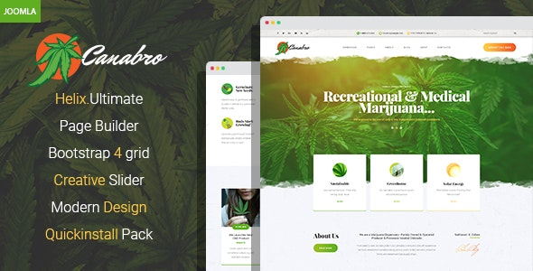 Canabro - Medical Marijuana Joomla Template - Business Corporate