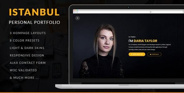 Istanbul - Personal Portfolio - Personal Site Templates