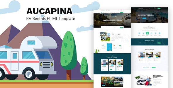Aucapina - Camping Auto Home HTML Template - Travel Retail