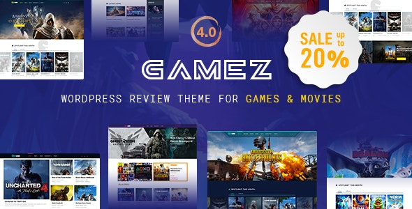 Best WordPress Review Theme For Games, Movies And Music - Gamez - News / Editorial Blog / Magazine
