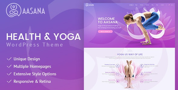 Aasana - Health and Yoga WordPress Theme - Health & Beauty Retail