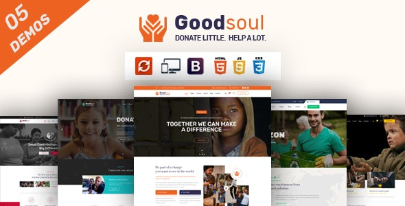 GoodSoul - Charity & Fundraising HTML Template - Nonprofit Site Templates