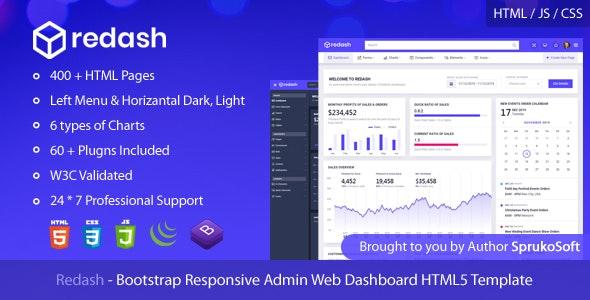Redash  –  Admin Dashboard HTML Template - Admin Templates Site Templates