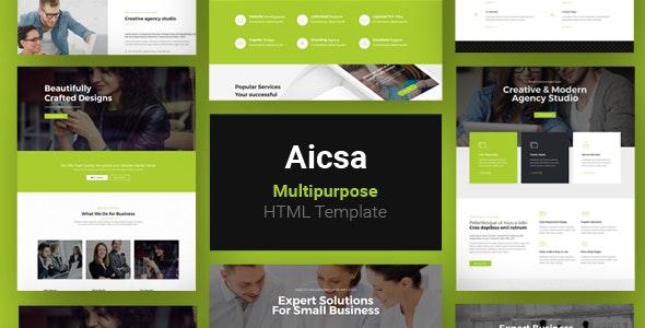 Aicsa - Multipurpose HTML Template - Business Corporate