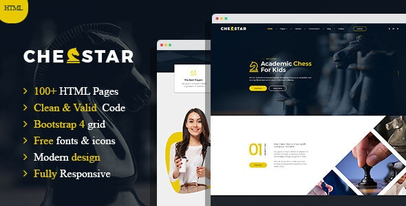Chesstar - Chess Club and Personal Trainer HTML Template - Nonprofit Site Templates