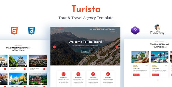 Turista - Tour & Travel Agency Template - Travel Retail