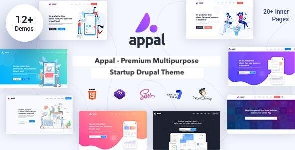 Appal - Multipurpose Startup & Landing Page Theme for Drupal - Business Corporate
