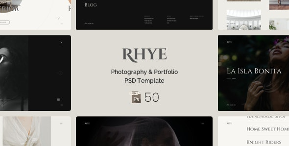 Rhye – Photography & Portfolio PSD Template - Photography Creative