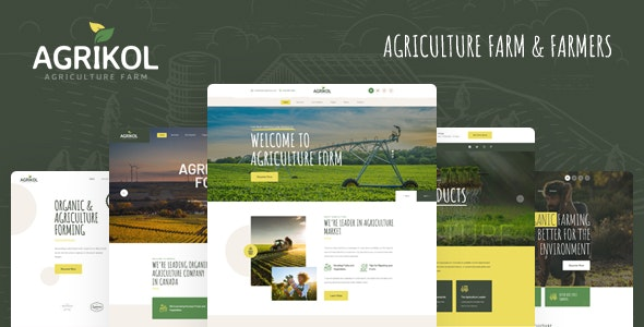 Agrikol - PSD Template For Agriculture Farm & Farmers - Food Retail
