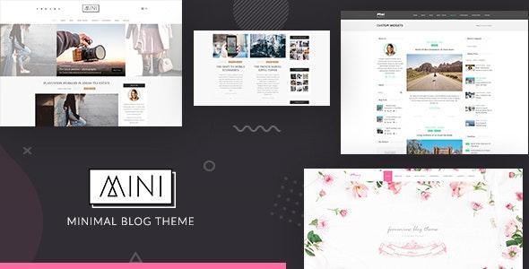 Mini - Minimalistic Blog Theme - Personal Blog / Magazine