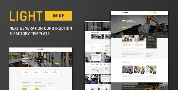 Lightwire - Construction And Industry Drupal 8 Theme - Business Corporate