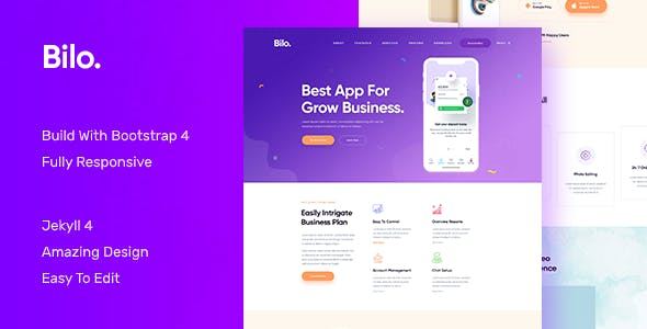 Download Bilo - App and Software Landing JEKYLL Template