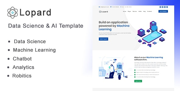Lopard - Data Science & AI HTML Template - Technology Site Templates